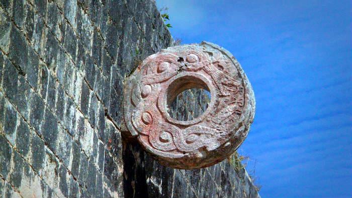 Juego de pelota ancestral en Quintana Roo