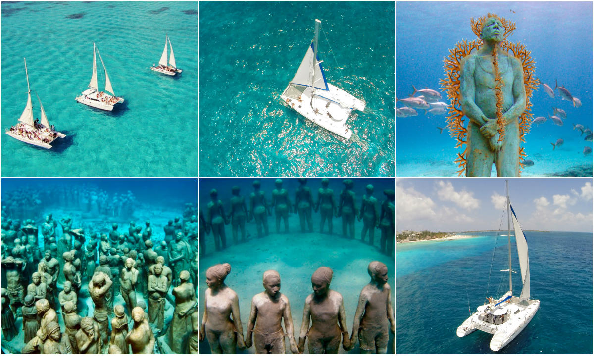 Excursiones Riviera Maya a Isla Mujeres en Catamaran