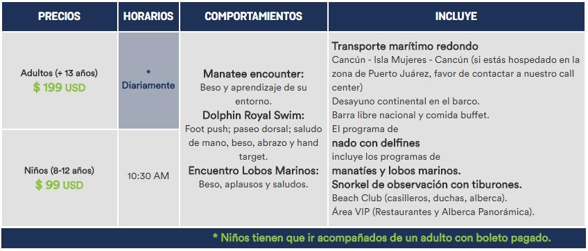 Precios de Sea Life Plus